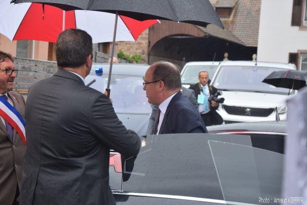 Visite du Prince Albert II de Monaco à Issenheim