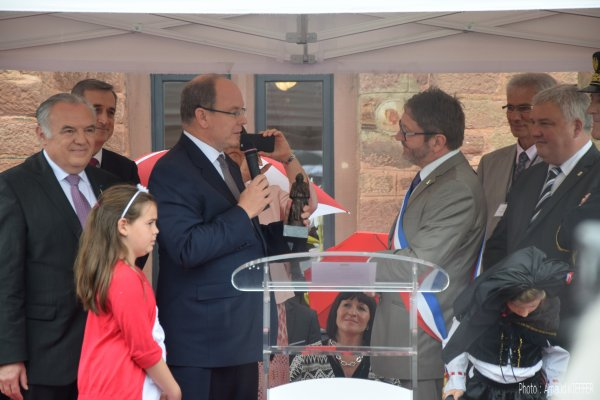 Discours de Monsieur le Maire et du Prince Albert II de Monaco