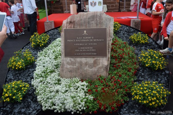 Inauguration de la stèle au nom de SAS Albert II Prince Souverain de Monaco