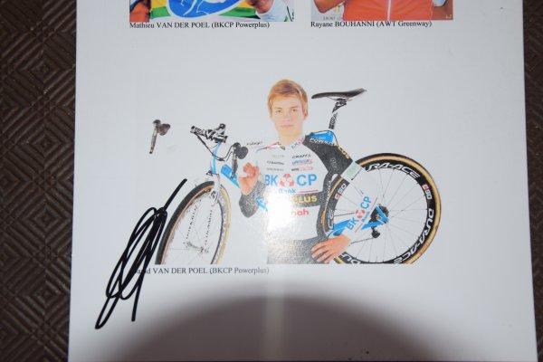 Autographe de David Van Der Poel