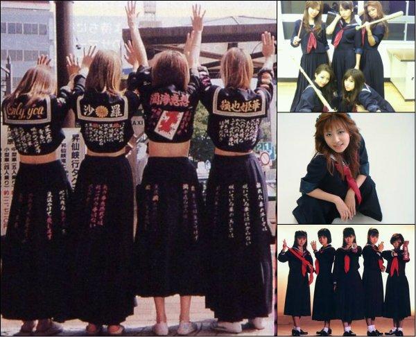 Girl gangs avec le style Sukeban!