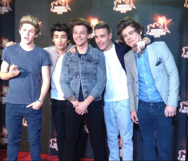 One Direction , On NRJ MUSIC AWARDS 2013 to Cannes