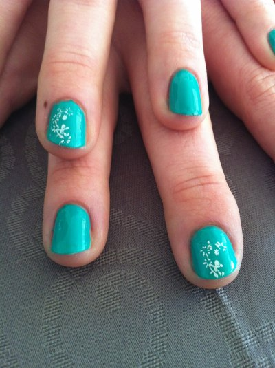 petite seance pose vernis et stamping avec Florence