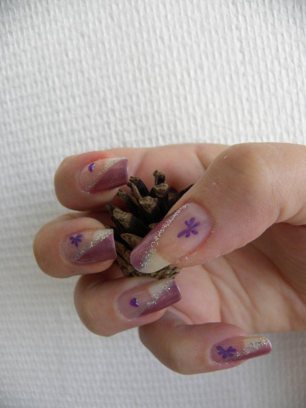 french de biais avec coeur violet