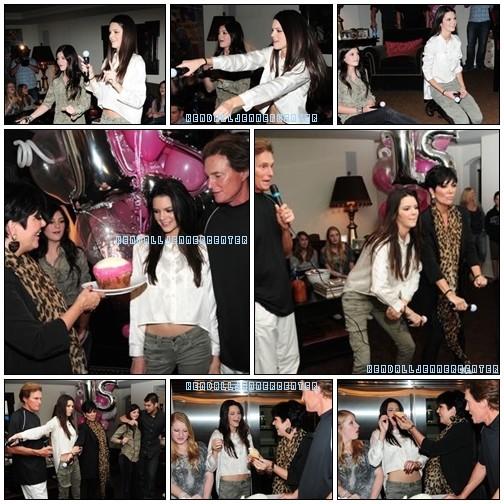 PHOTOS :  Encore de nouvelles photos de l'anniversaire de Kendall.  Et toi ? Tu la trouve comment ? Magnifique, non ?_♥