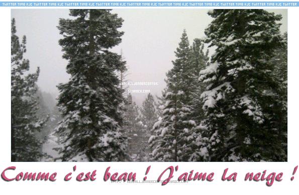 TWITTER :  Kendall a posté une nouvelle photo sur son Twitter.  Aimes-tu la neige ? Est ce qu'il neige chez toi ?