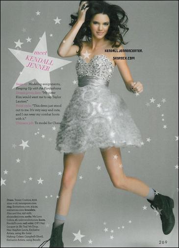 SCANS :  Voici un scan de magazine Teen Prom où on peut voir Kendall.  Comment trouves-tu Kendall ? Je la trouve sublime !
