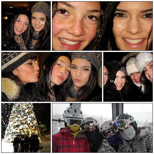 PHOTOS PERSONELLES :  Kendall, Kylie et leurs amies ont étés (ou sont) en vacances a la montagne; d'où cette photo qu'elle avait posté sur Twitter.  Que penses-tu des photos ? Aimes-tu la montagne ?