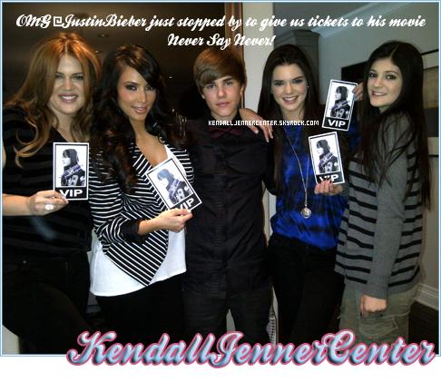 TWITTER :  Kim a posté cette photo sur Twitter.   Ton avis ? Comment trouves-tu Kendall ? Aimes-tu Justin Bieber ? Iras-tu voir son film ?