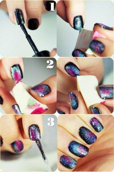 Tuto Nail Art Galaxy