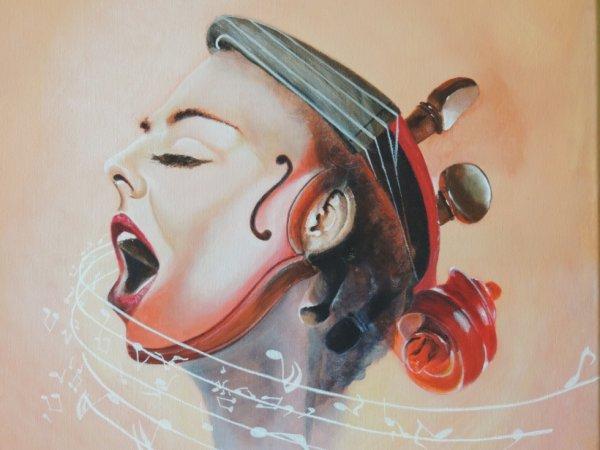 La dame au violon
