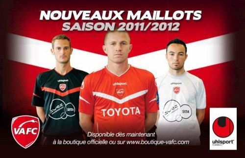 maillot ligue 1 de valenciennes saison 2011-2012