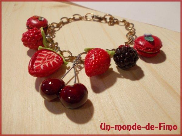 Cinq-cent-quarante-cinquième objet:   Bracelet fruité et gourmand