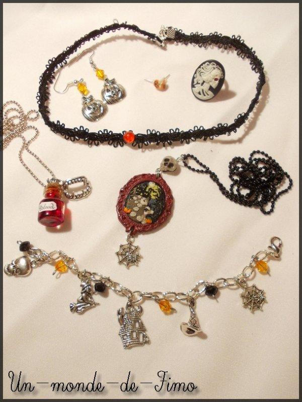 Cinq-cent-soixant-et-deuxième objet:   Mes bijoux Halloween!