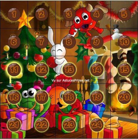1er décembre = calendrier de l'avent