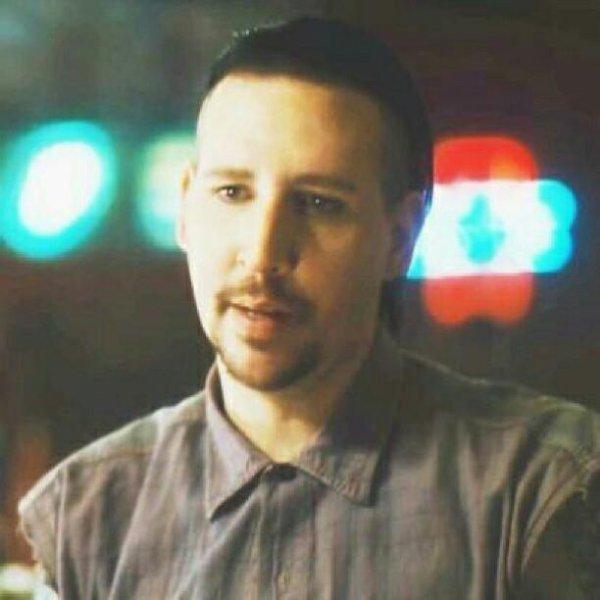 Marilyn Manson sans maquillage;