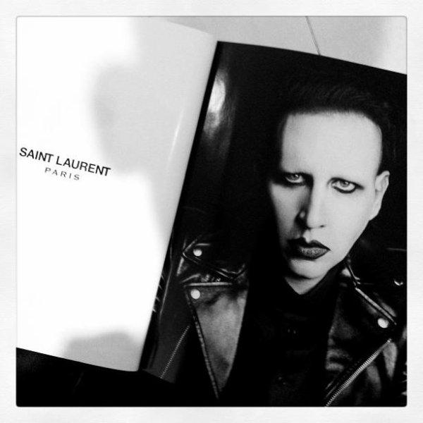 Marilyn Manson and Yves Saint Laurent