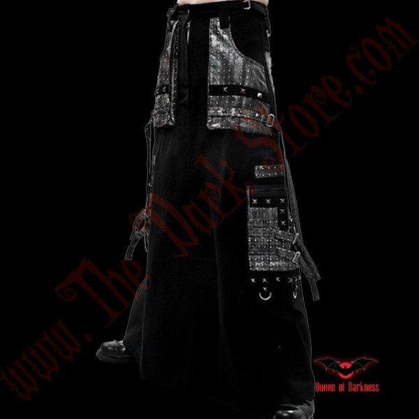 Longue Jupe Noire Cyber Goth