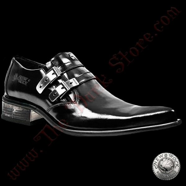 CHAUSSURES NEW ROCK 'BLACK NEWMAN' (2246-S10)