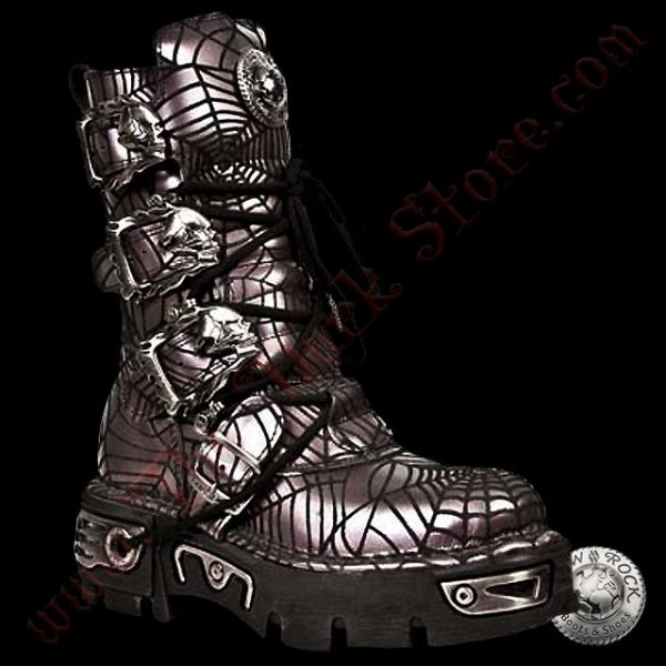 New Rock Spider Boots Lilas (391-R4)