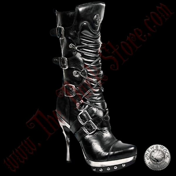 Bottines Femmes New Rock Vegan Punk (PUNK001-VC1)
