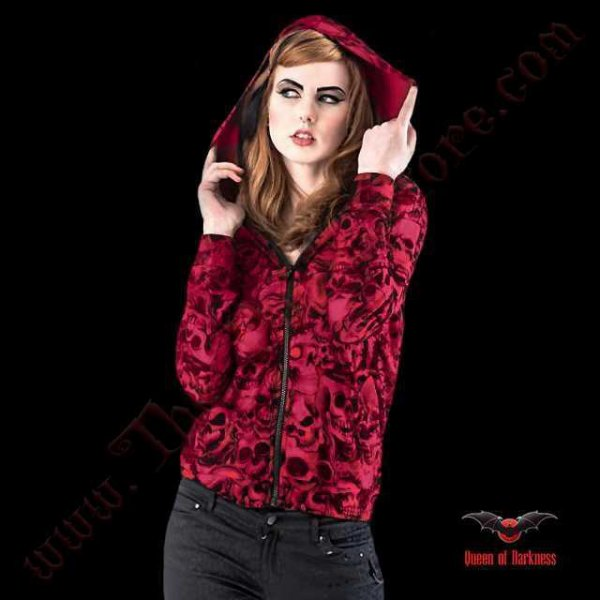 Veste 'Camouflage Skulls' Queen of Darkness