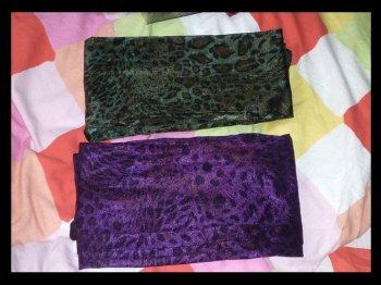 Leggins léopards violet et vert :)