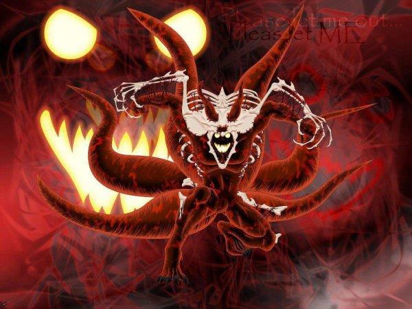 Naruto d mon renard 4 queues orochimaru - Coloriages naruto demon renard ...