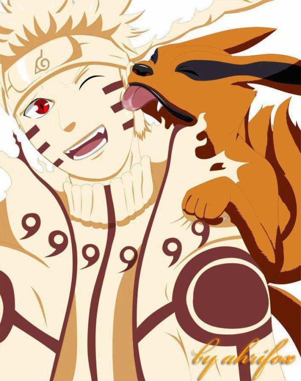 Naruto (Mode Rikudou Sennin) \u0026 Kyuubi.
