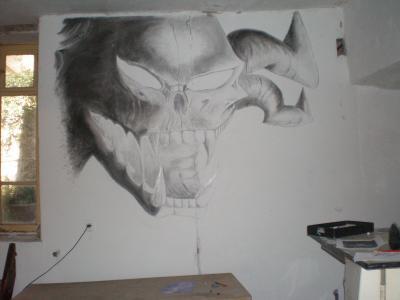 Un autre dessin mural dessin de seb for Dessin mural