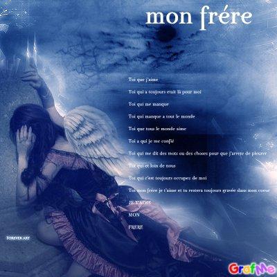 A Mon Frèremon Poème Du Coeur Blog De A Mon Frere Anthony