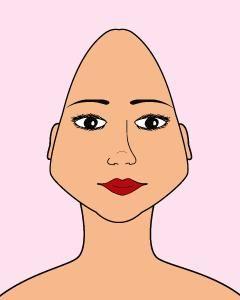 visage triangulaire