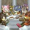 Sonic , amy , blaze , shadow , knuckles