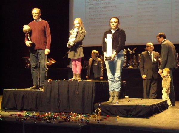 quelques photos de la remise des prix pour ma femme  à Nantes