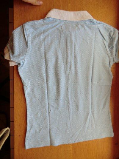Polo equiline bleu/blanc