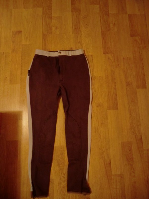 pantalon ciel/marron