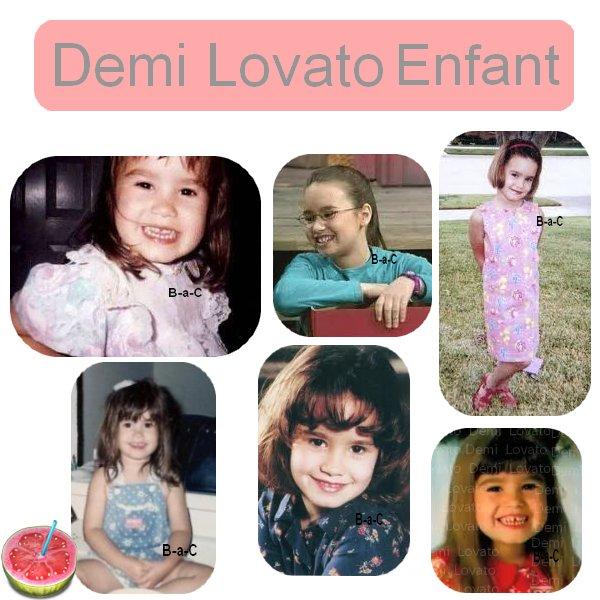 Demi, Justin, Selena, Les Jonas quand ils etaient enfants (: ♥