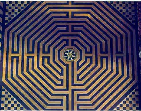 Le labyrinthe de la cathédrale Notre-Dame d'Amiens