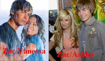 Zac et Vanessa ou Zac et Ashley