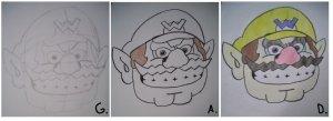 Tutoriel dessin de wario ^ ^