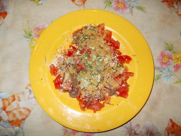 Une assiette de salade