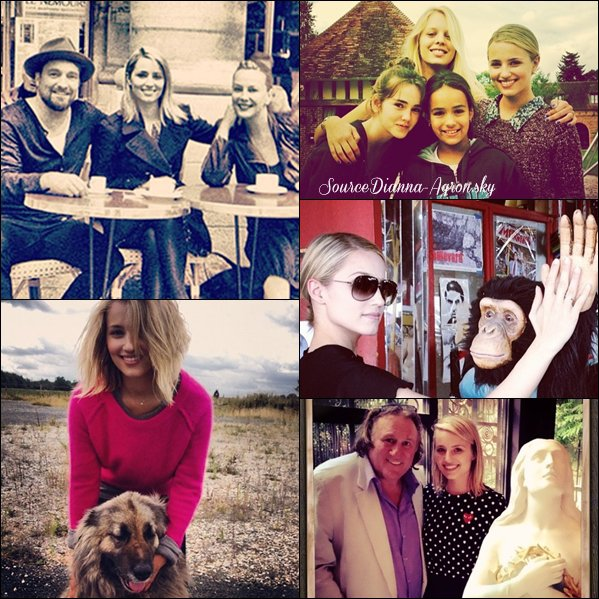 ☆ Quelques photos personnelles de Dianna pendans son séjour en France !