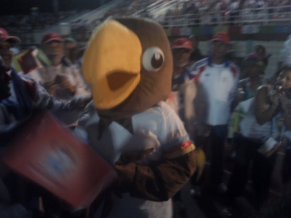 mascott des jeux des îles à seychelles