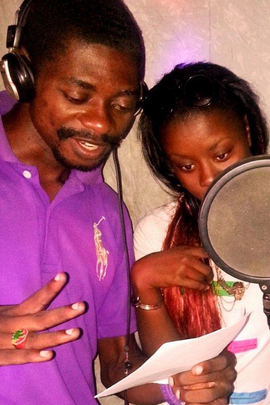 Au studio avec la nouvelle voix Claudi.A