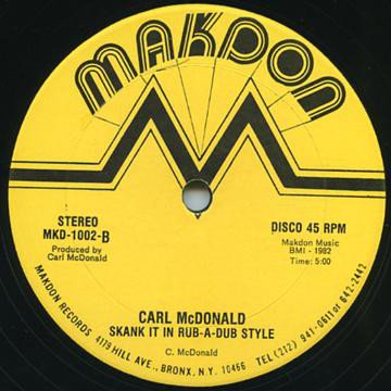 selection n102 - Carl McDonald - Skank it n a rub-a-dub style