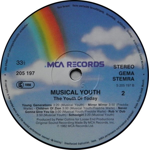 selection n364 - musical youth - rub n dub