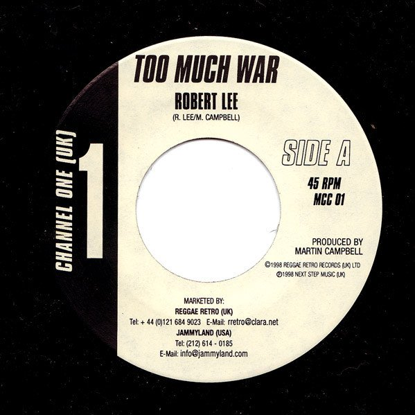 selection n414 - robert lee - too much war