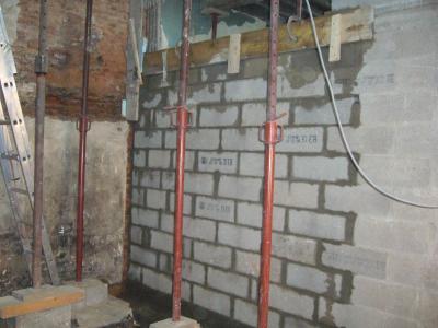 Dernier mur porteur rdc r novation gal re for Renfort mur porteur