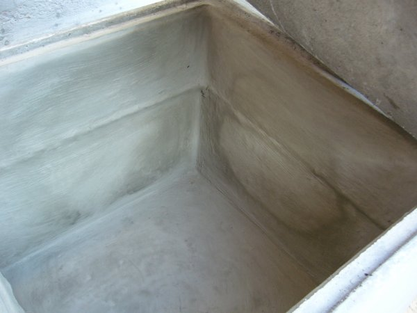 bac en béton - rénovation galère