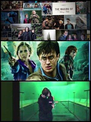 """Video du nouveau livre """" Page to screen """" avec des images inédites, contenus du dvd blu-ray et dvd, et baiser entre Ron et Hermione revélé lors du montage."""
